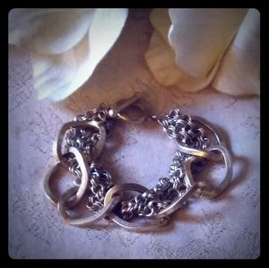 Vintage Cable Chain & Twisted Loops Bracelet